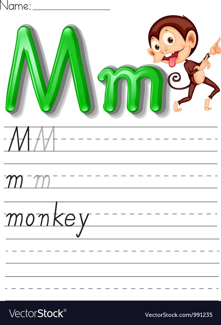 Alphabet worksheet vector | Price: 1 Credit (USD $1)