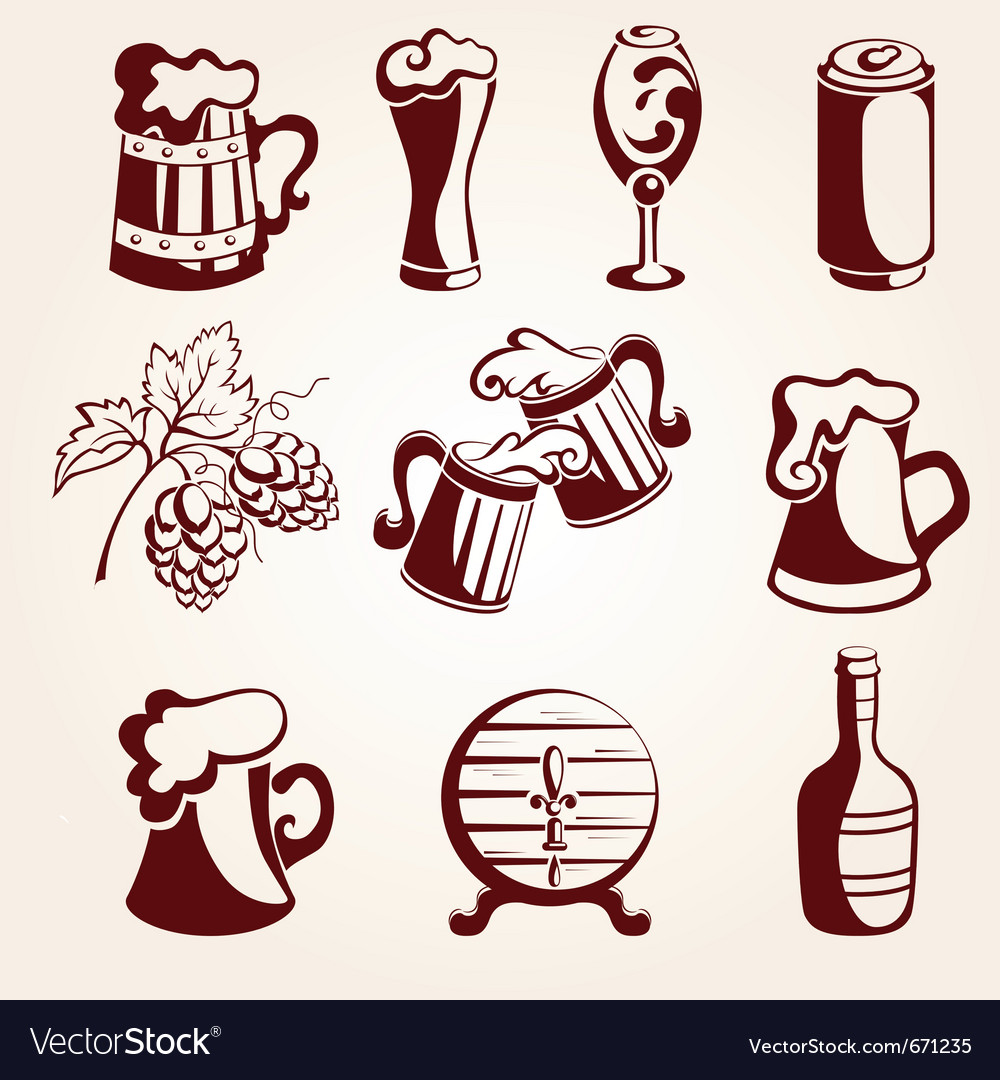 Beer set vector | Price: 1 Credit (USD $1)