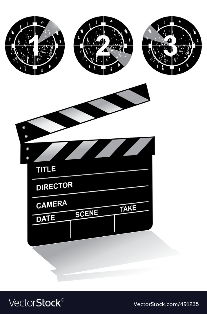 Clapper board1 vector | Price: 1 Credit (USD $1)