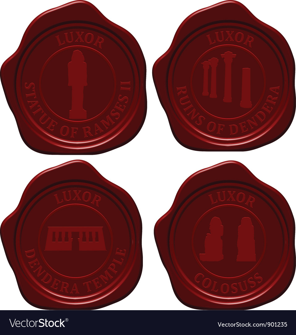 Egypt sealing wax set vector | Price: 1 Credit (USD $1)
