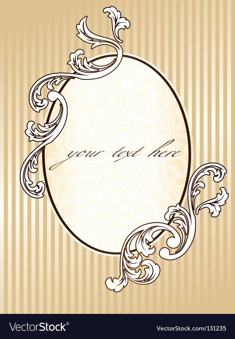 Elegant oval vintage sepia frame vector | Price: 1 Credit (USD $1)