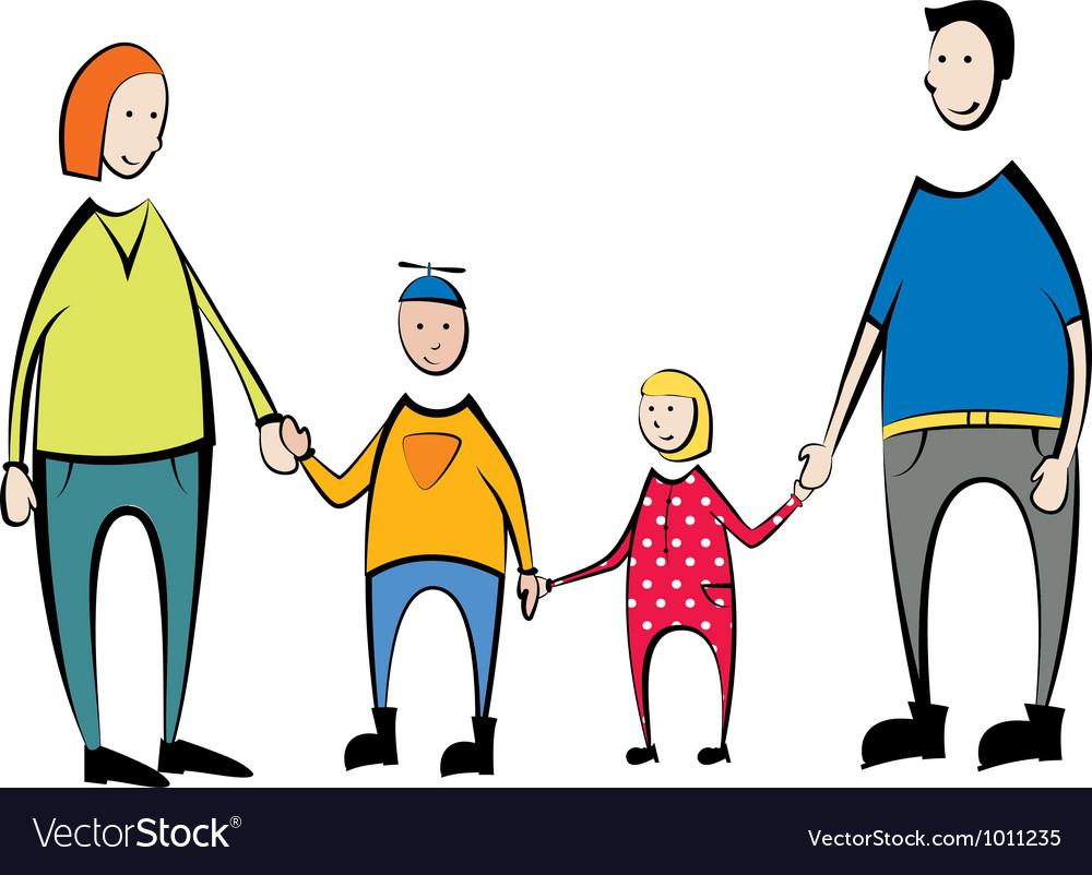 Family portrait vector | Price: 1 Credit (USD $1)