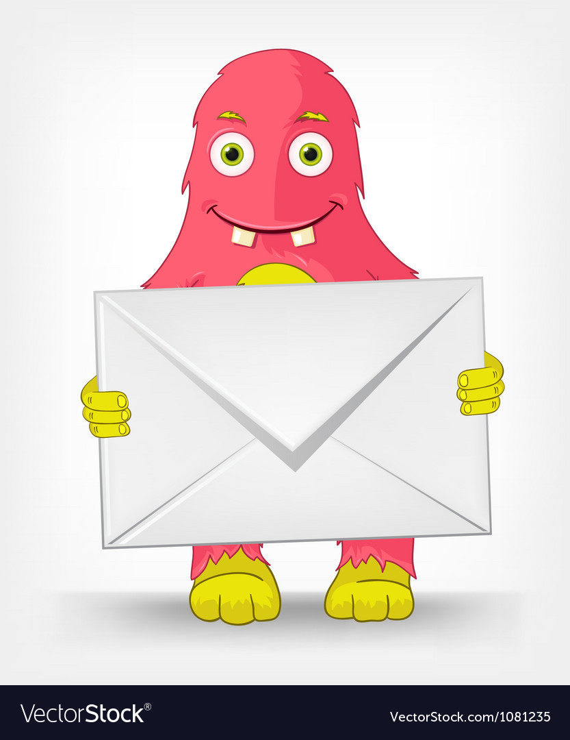 Funny monster postman vector | Price: 1 Credit (USD $1)