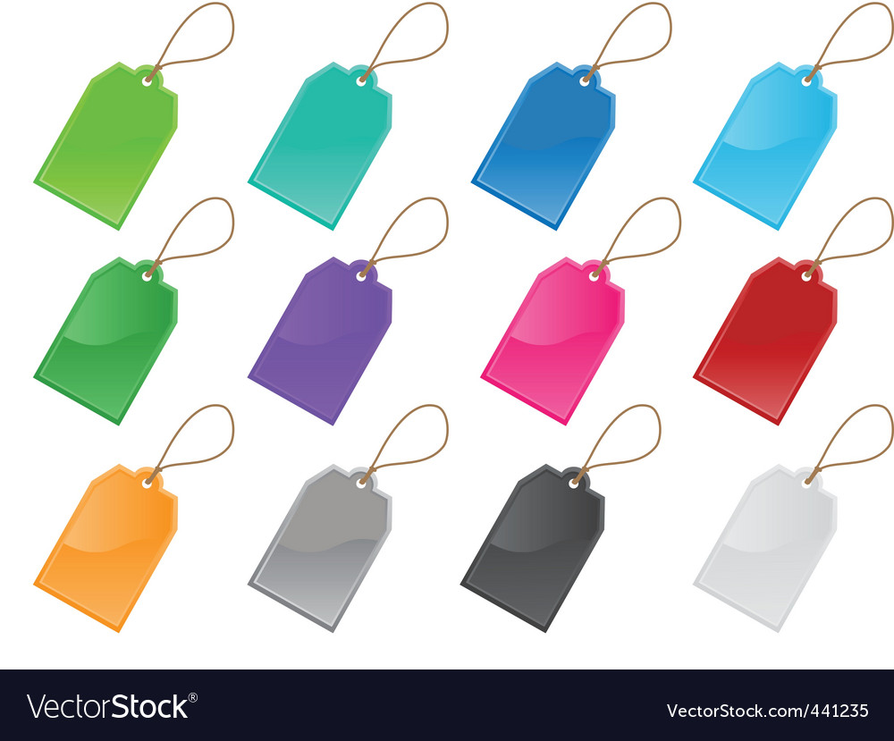 Price and labels tag set vector | Price: 1 Credit (USD $1)