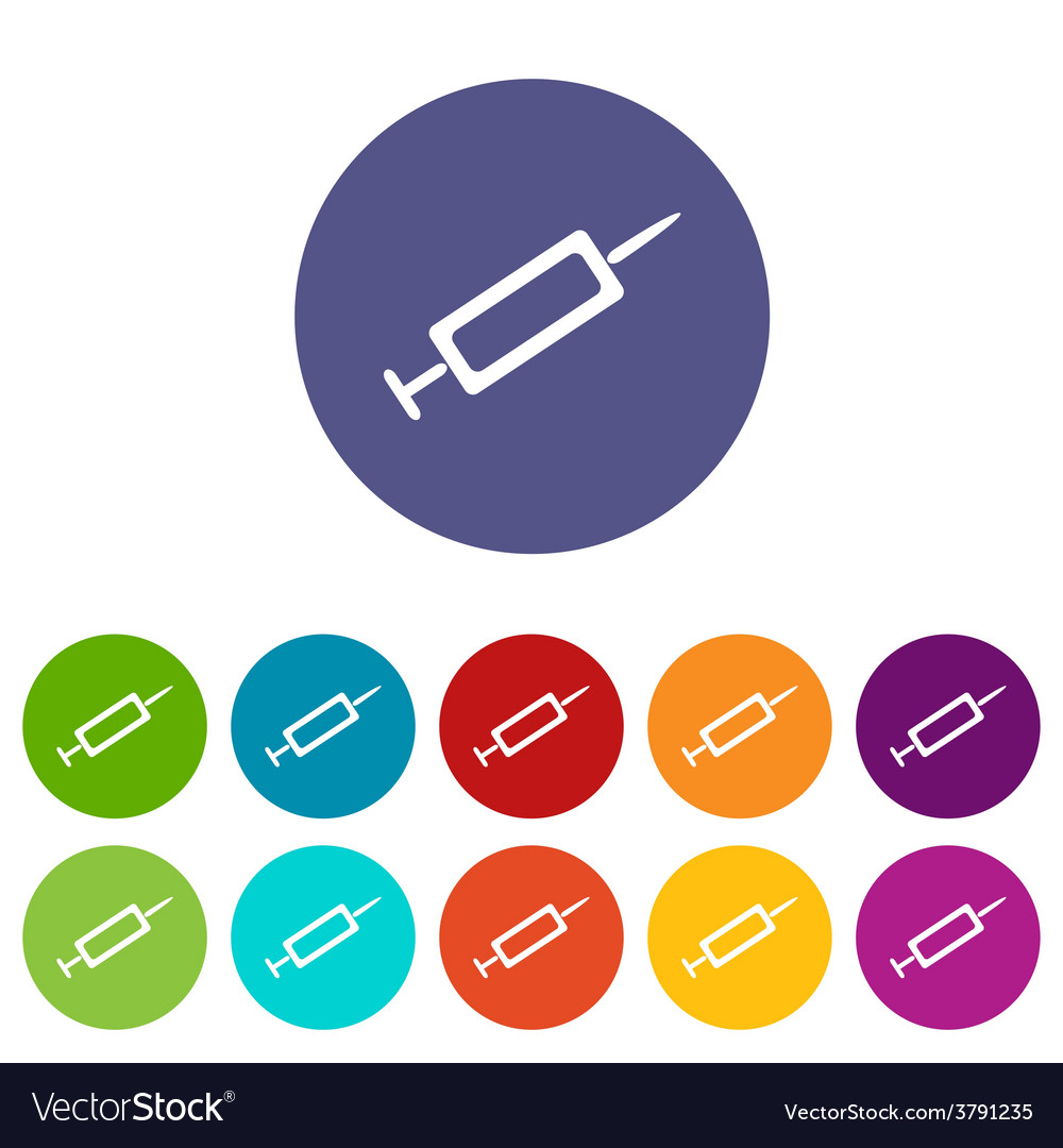 Syringe flat icon vector | Price: 1 Credit (USD $1)