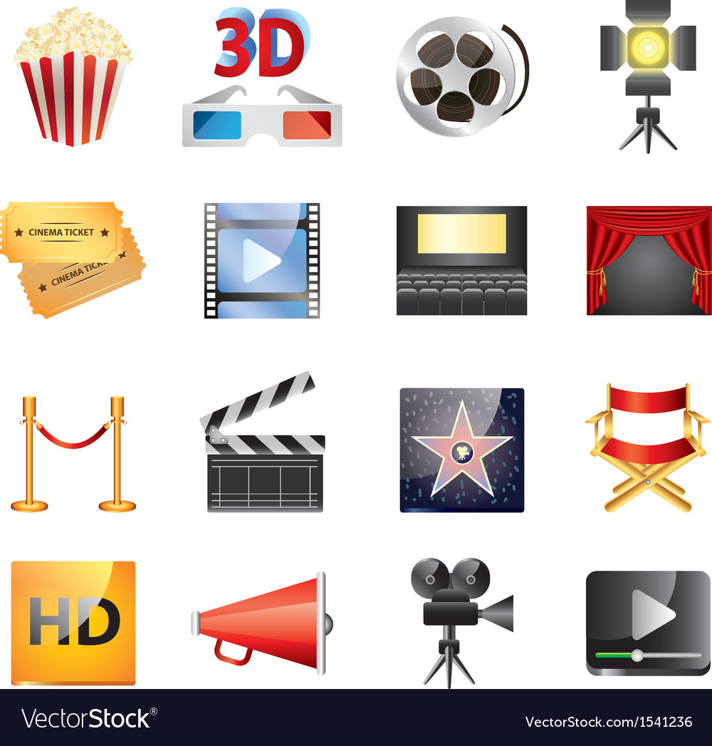 Cinema set vector | Price: 3 Credit (USD $3)