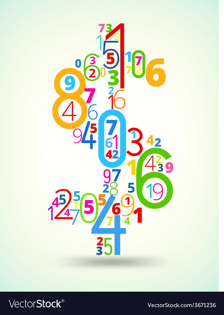 Dollar sign colored font from numbers vector   Price: 1 Credit (USD $1)