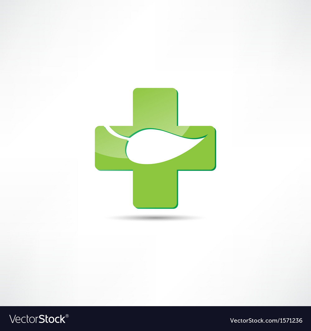 Eco medicine icon vector | Price: 1 Credit (USD $1)