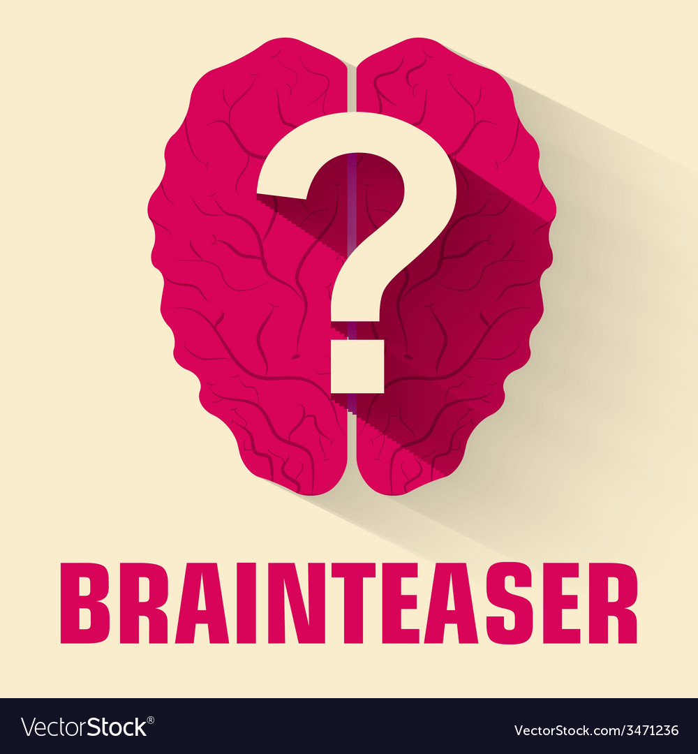 Flat brainteaser icon concept design vector | Price: 1 Credit (USD $1)