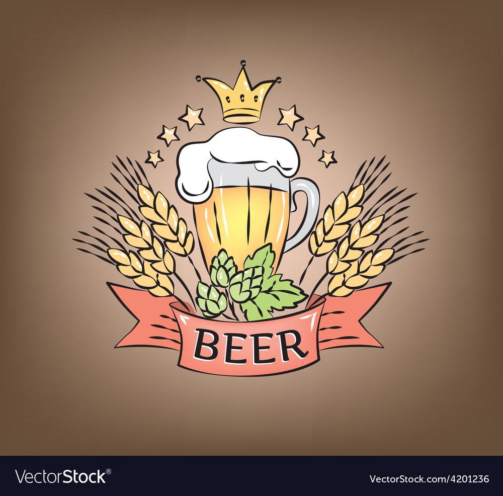 Logo beer vector | Price: 1 Credit (USD $1)