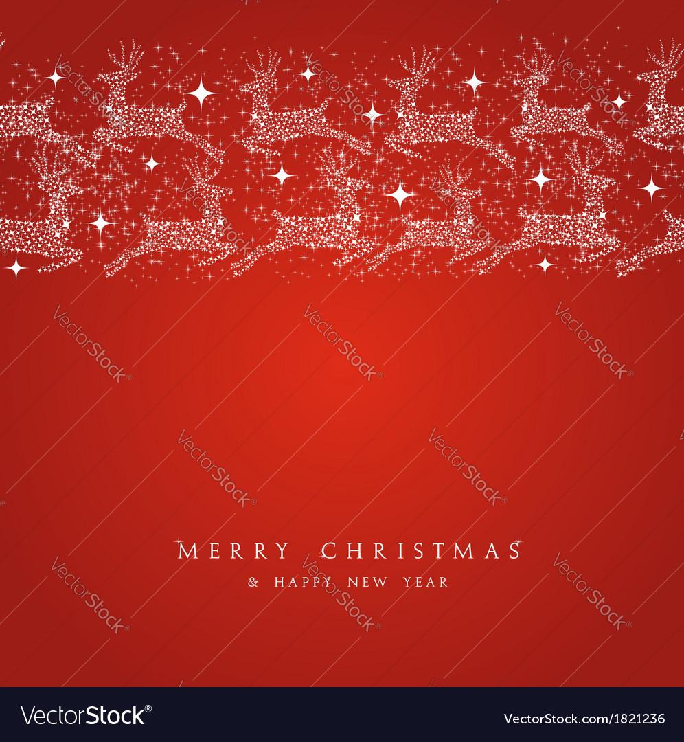 Merry christmas reindeer decorations elements vector | Price: 1 Credit (USD $1)