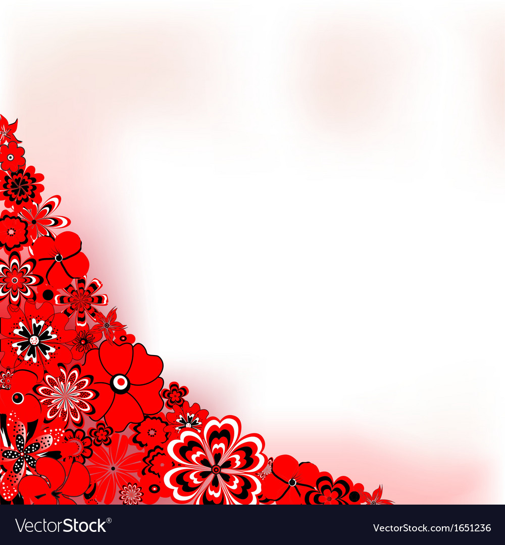 Red flower background vector | Price: 1 Credit (USD $1)