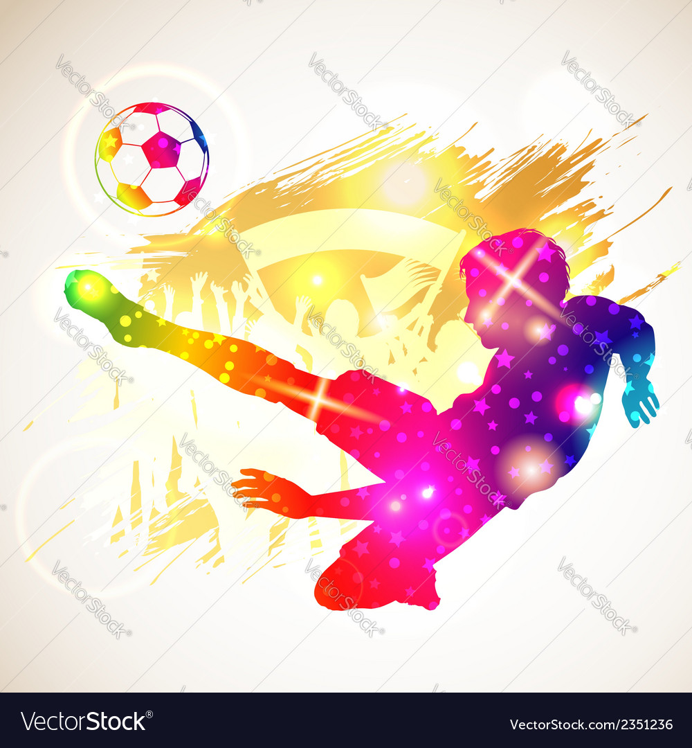 Soccer player vector | Price: 1 Credit (USD $1)