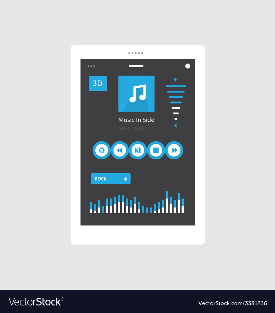 Tablet music player vector | Price: 1 Credit (USD $1)
