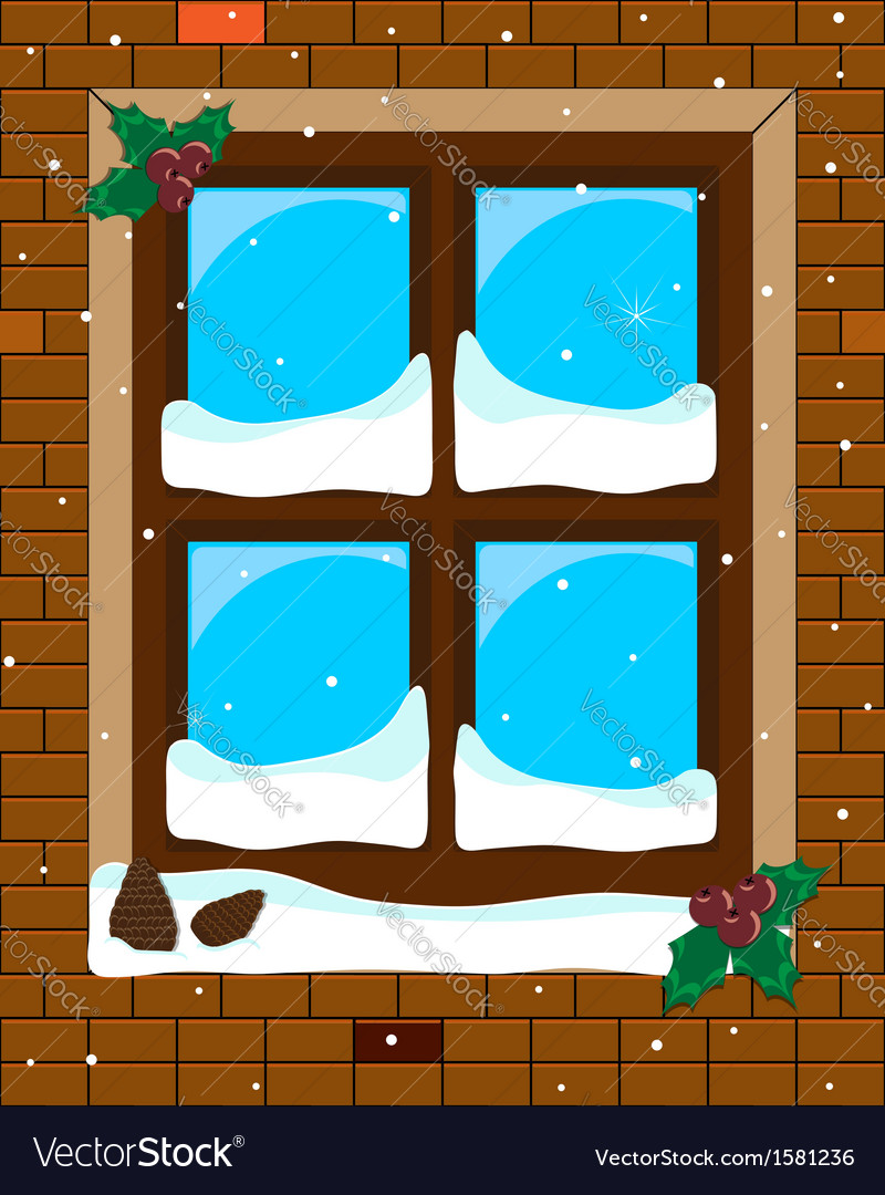 Window blue vector | Price: 1 Credit (USD $1)