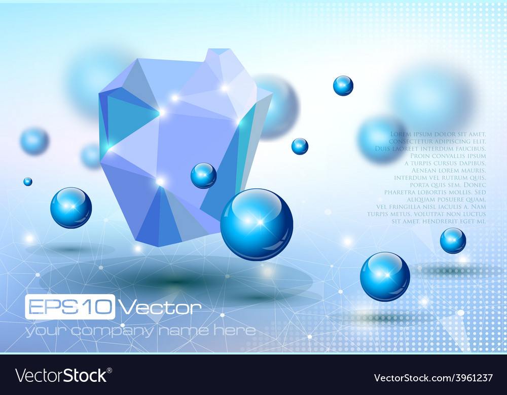Abstract modern depth of field technology design vector | Price: 3 Credit (USD $3)