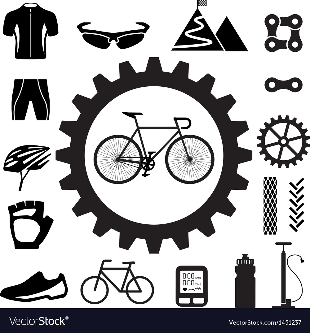 Bicycle icons set eps 10 vector