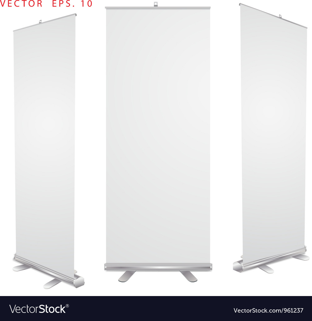Blank roll up banner display vector | Price: 1 Credit (USD $1)