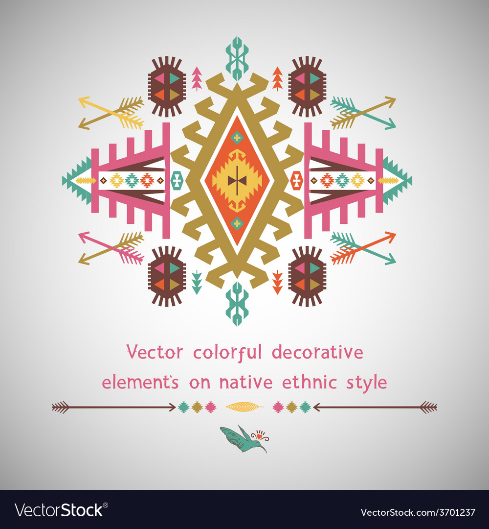 Colorful decorative element in native vector | Price: 1 Credit (USD $1)