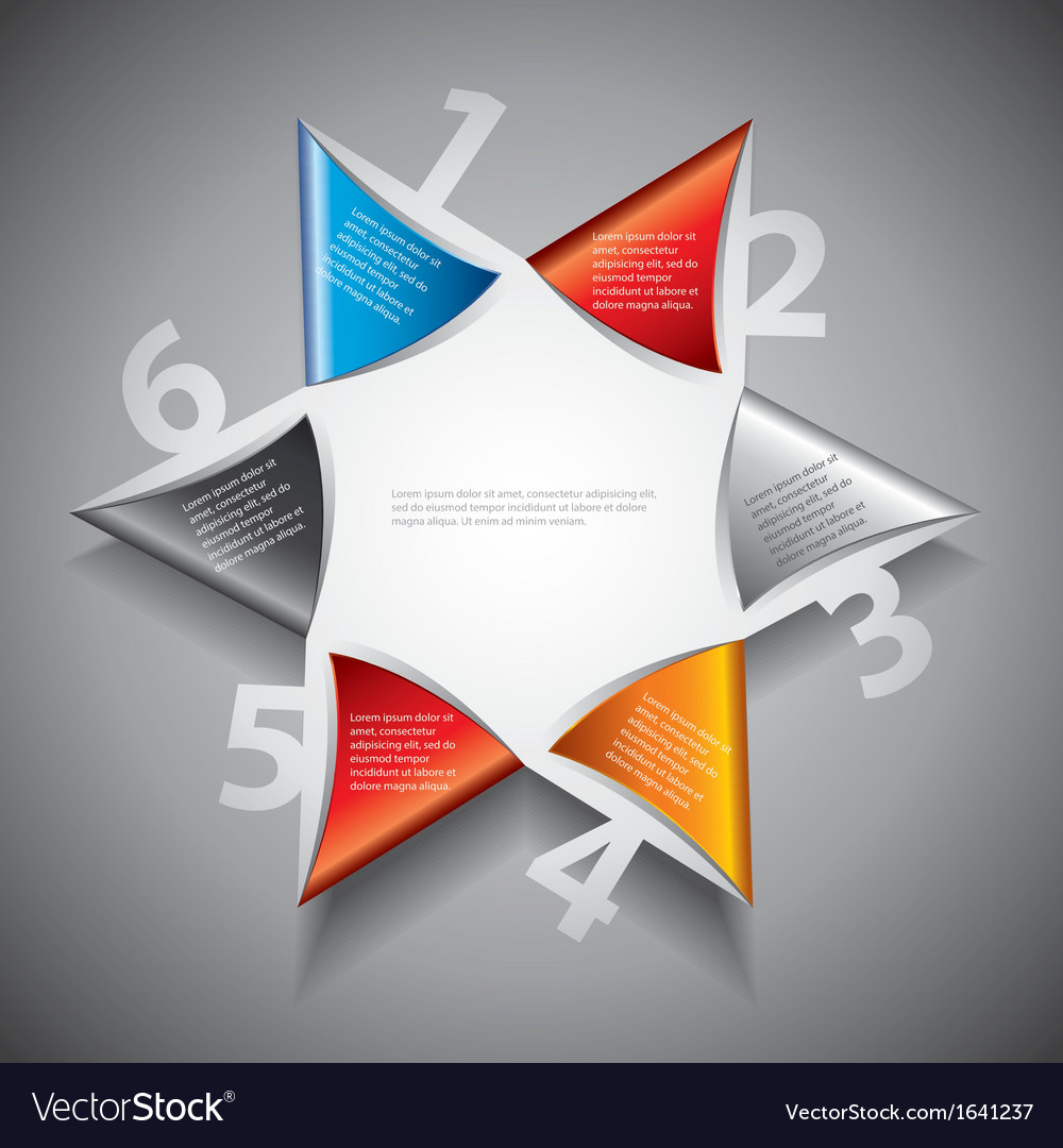 Infographics six pointed star vector | Price: 1 Credit (USD $1)