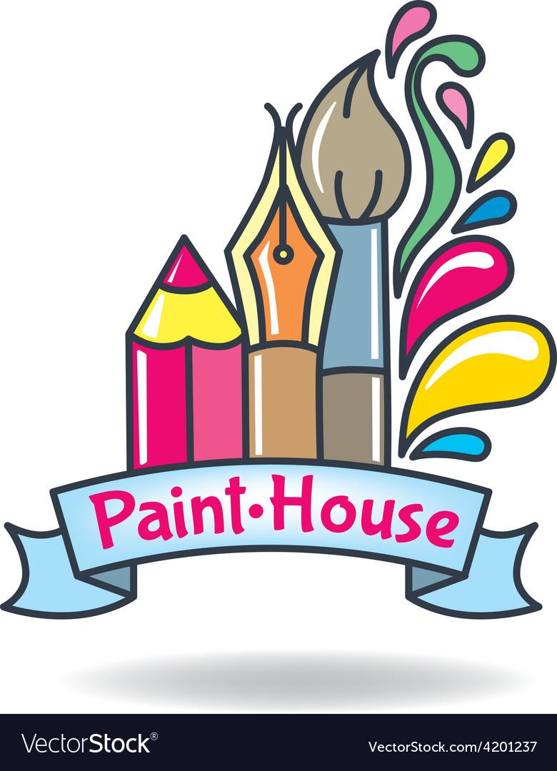 Logo paint vector