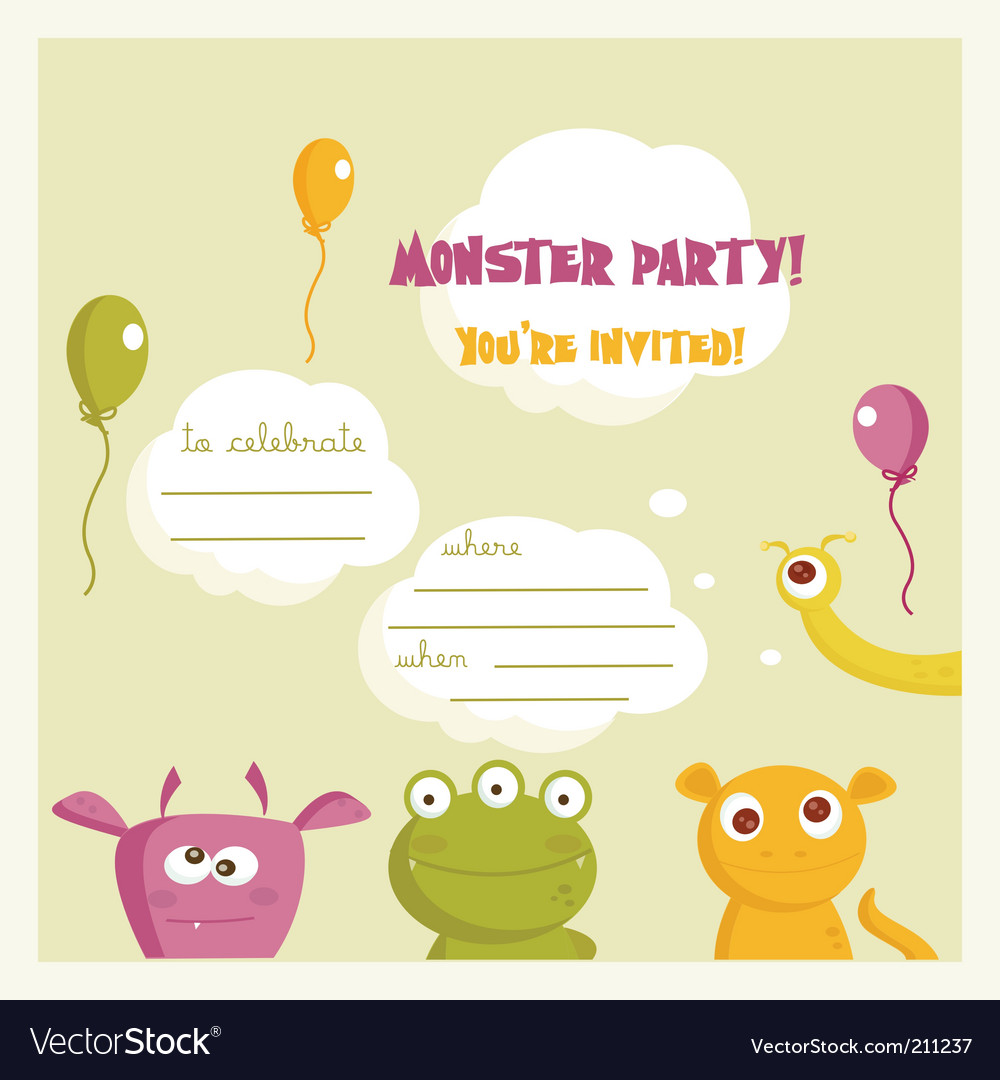 Monster party vector | Price: 1 Credit (USD $1)