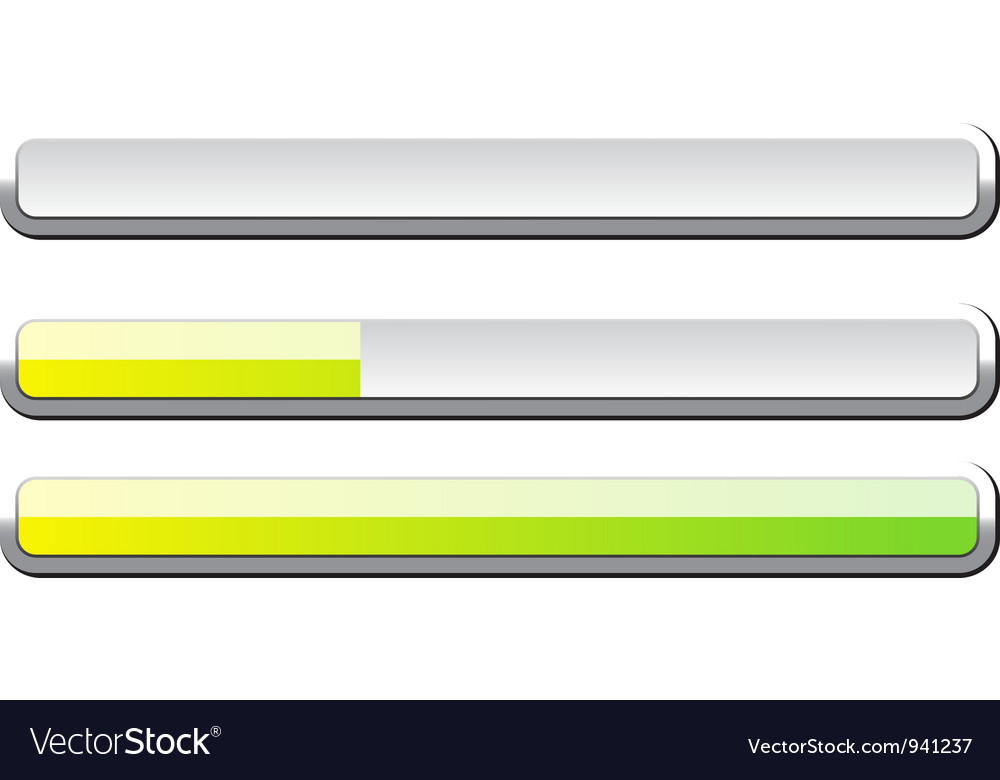 Progress bar vector | Price: 1 Credit (USD $1)