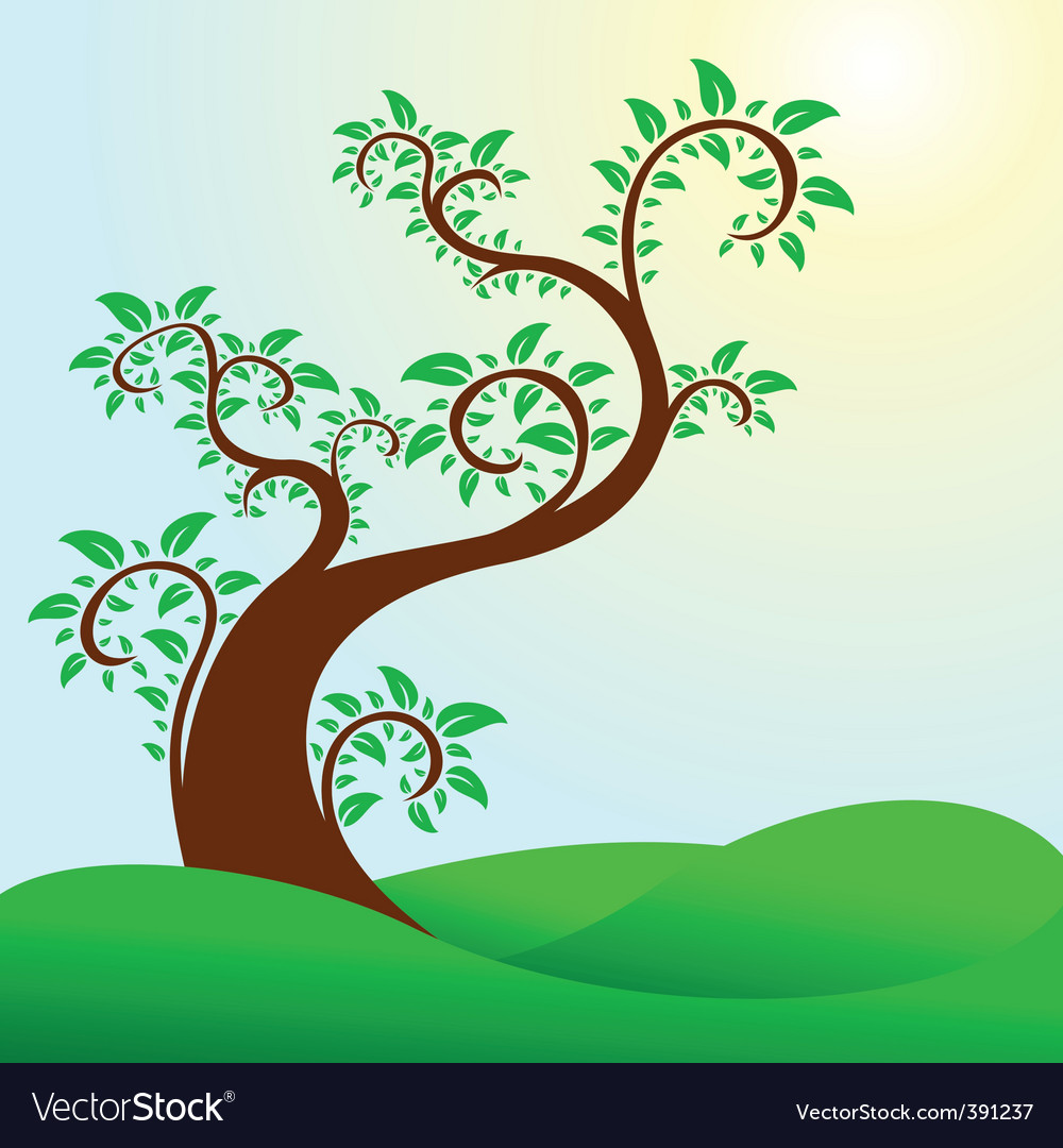 Swirly tree vector | Price: 1 Credit (USD $1)