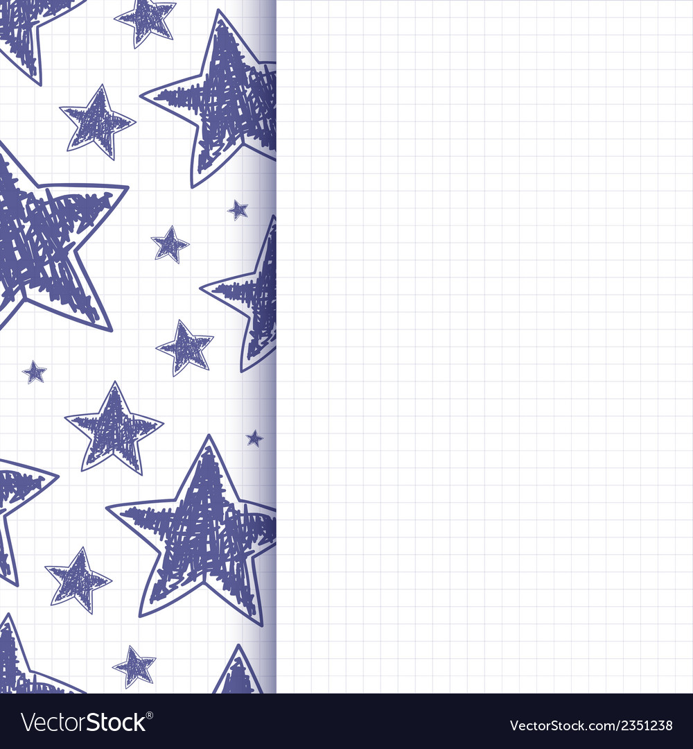 Abstract background with hand drawn stars vector | Price: 1 Credit (USD $1)