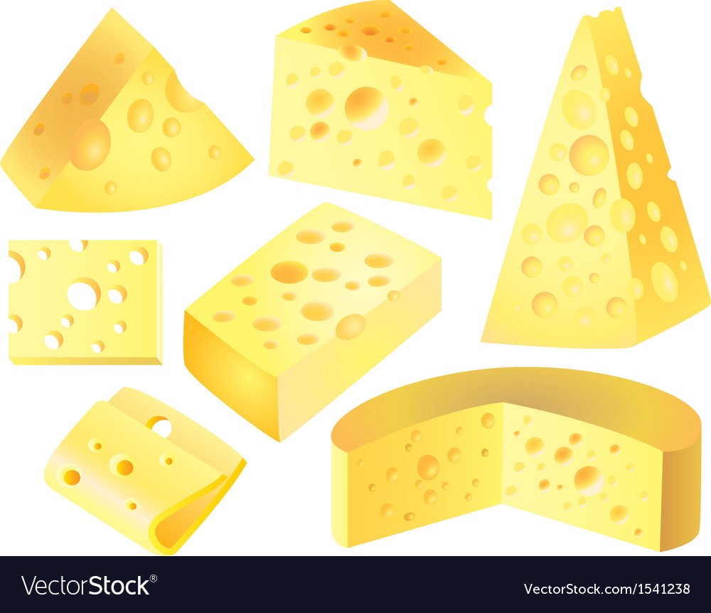 Cheese set vector | Price: 3 Credit (USD $3)