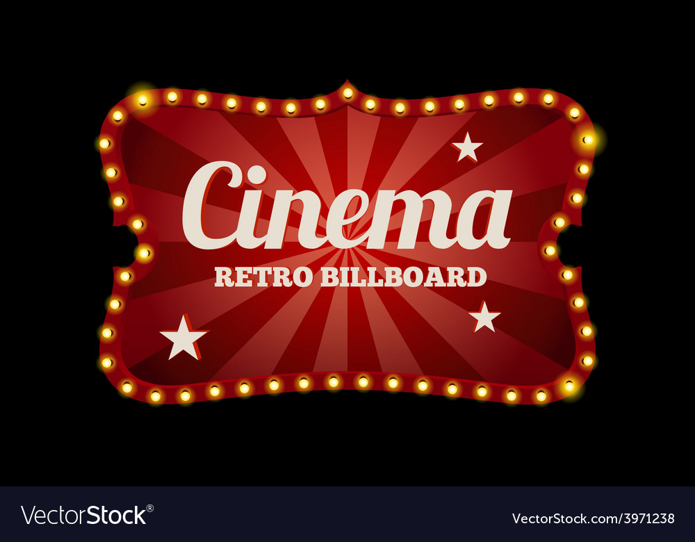 Cinema sign or billboard vector | Price: 1 Credit (USD $1)