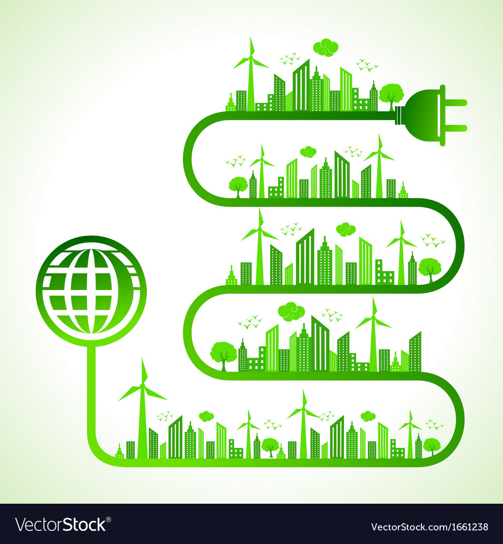 Ecology concept with earth icon vector   Price: 1 Credit (USD $1)