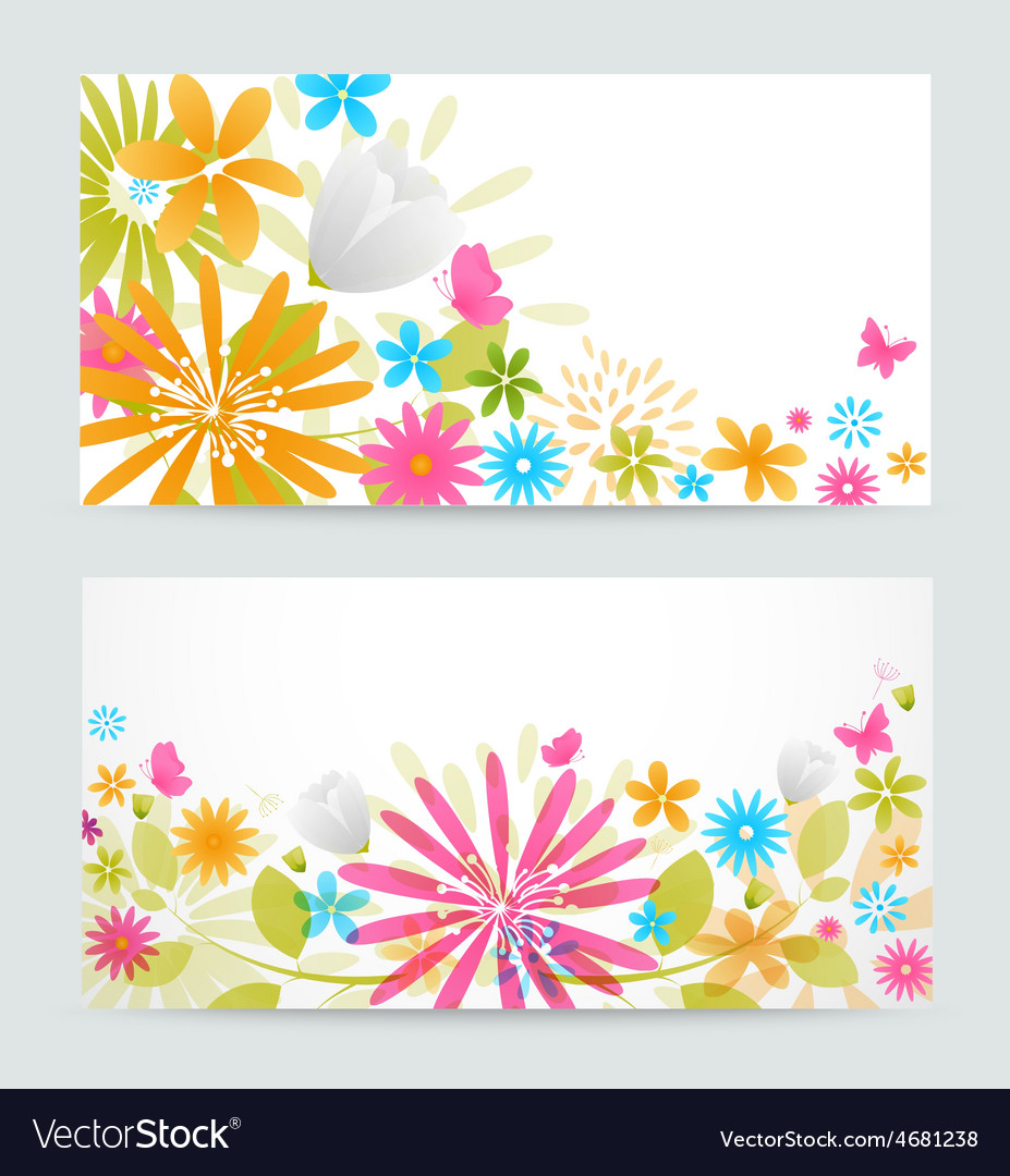 Fresh floral banner vector | Price: 1 Credit (USD $1)