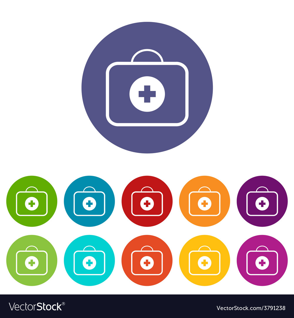 Medic bag flat icon vector | Price: 1 Credit (USD $1)