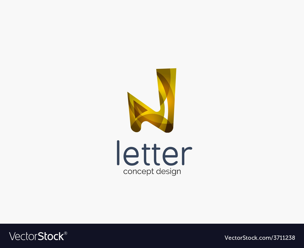 Modern company logo clean glossy design vector | Price: 1 Credit (USD $1)