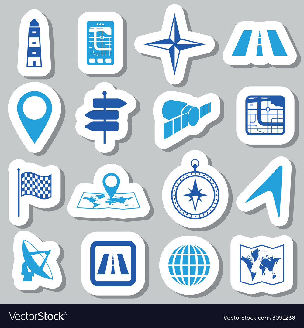 Navigation stickers vector | Price: 1 Credit (USD $1)