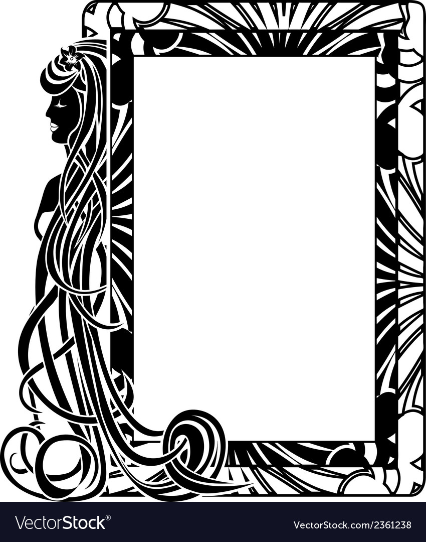 Ornamental frame in style art nouveau vector | Price: 1 Credit (USD $1)