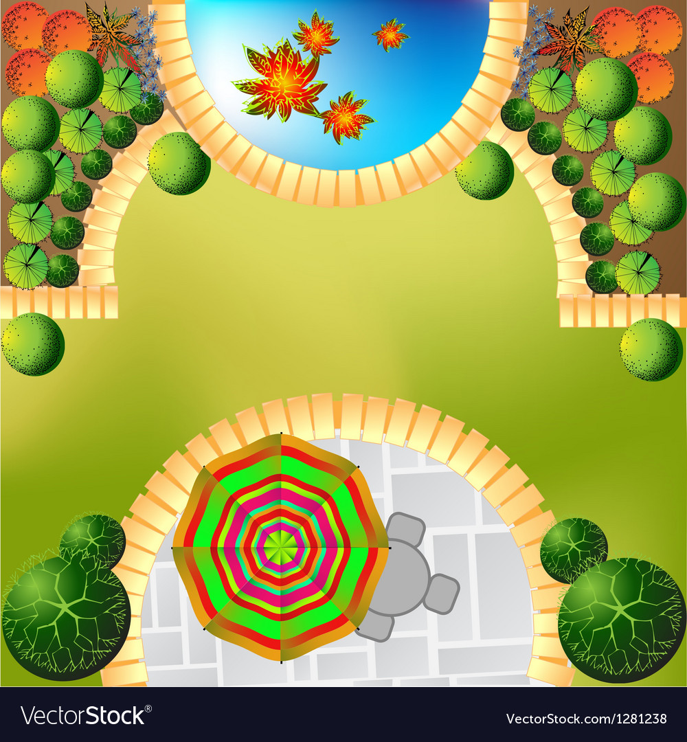 Plan of garden vector | Price: 1 Credit (USD $1)