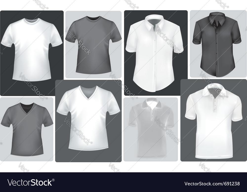 Polo shirts and t-shirts vector | Price: 1 Credit (USD $1)