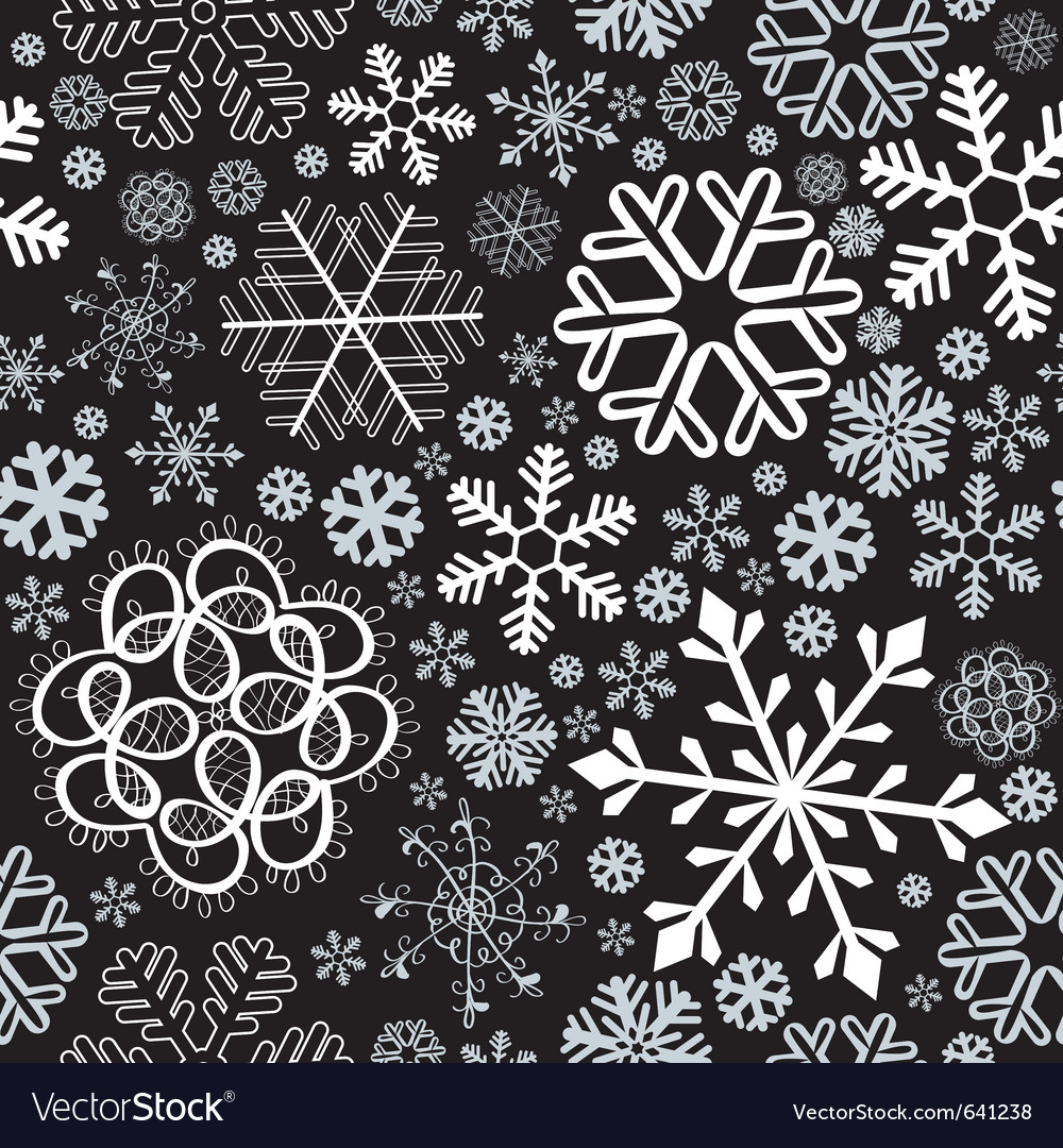 Snowflake christmas seamless vector | Price: 1 Credit (USD $1)