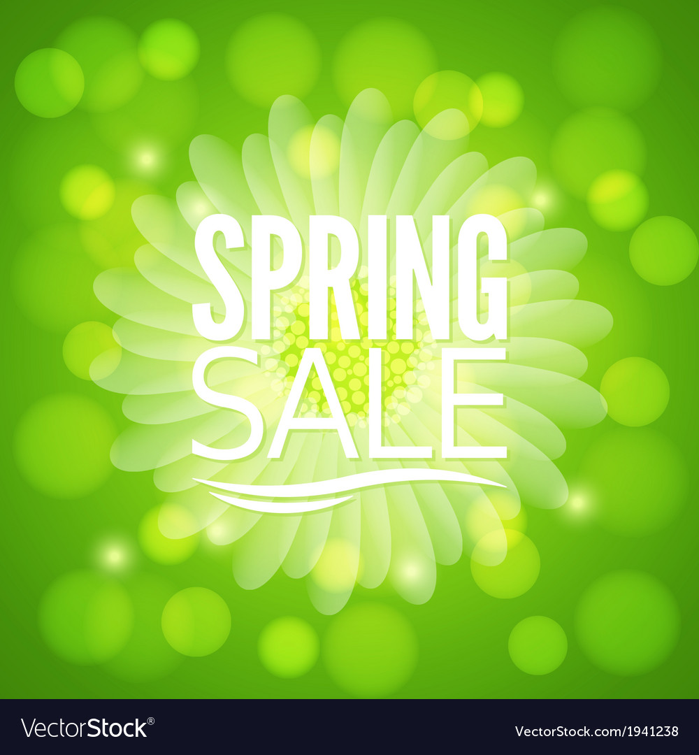 Spring flower sale design background vector | Price: 1 Credit (USD $1)