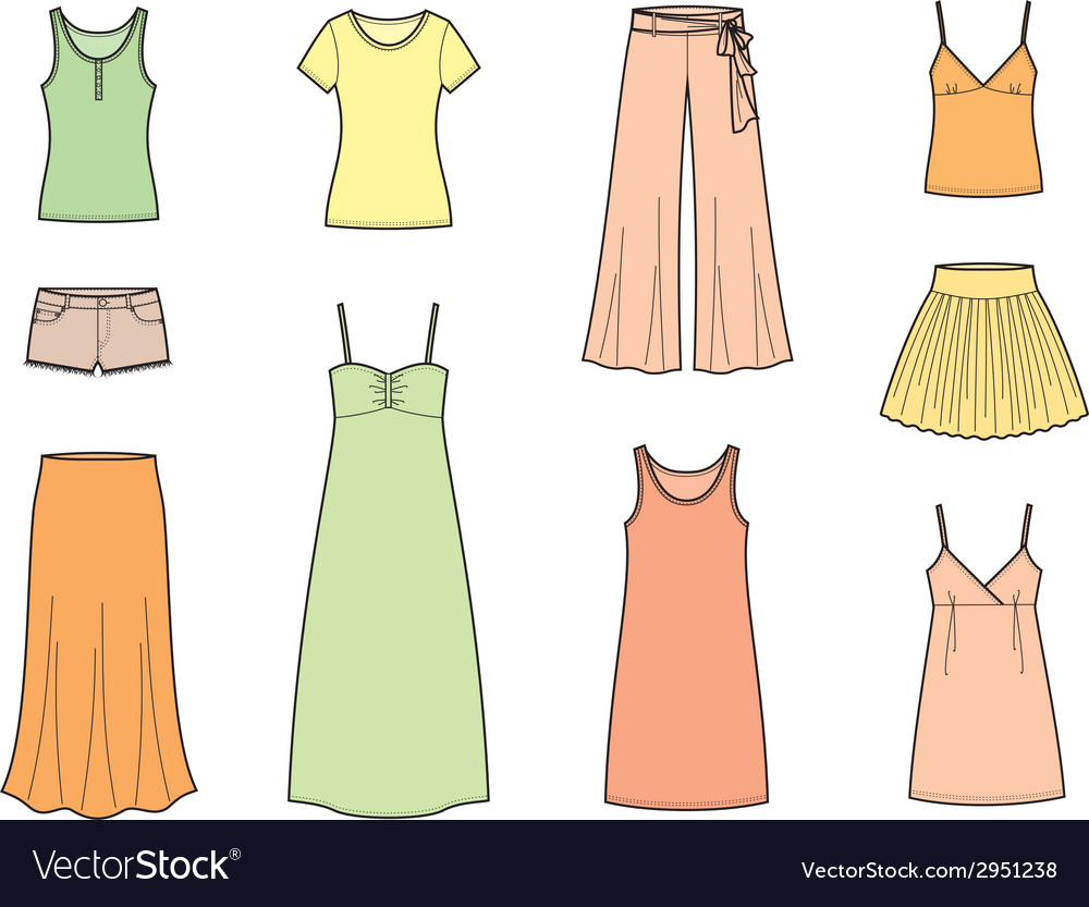 Summer clothes vector   Price: 1 Credit (USD $1)