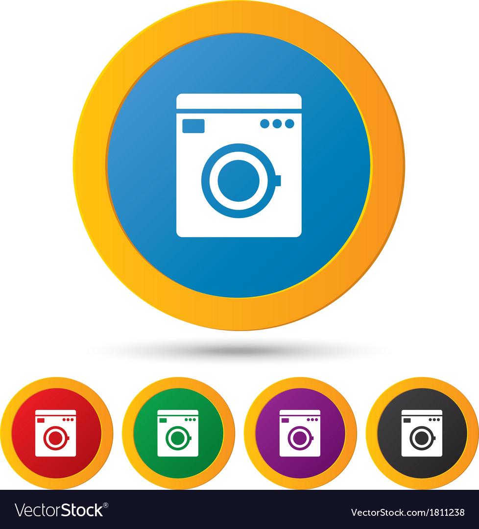 Washing machine icons wash machine symbol vector   Price: 1 Credit (USD $1)