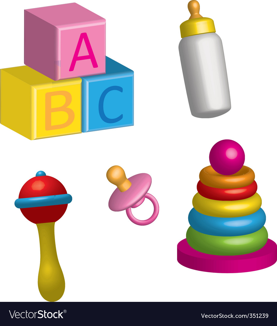 Baby toys vector | Price: 3 Credit (USD $3)