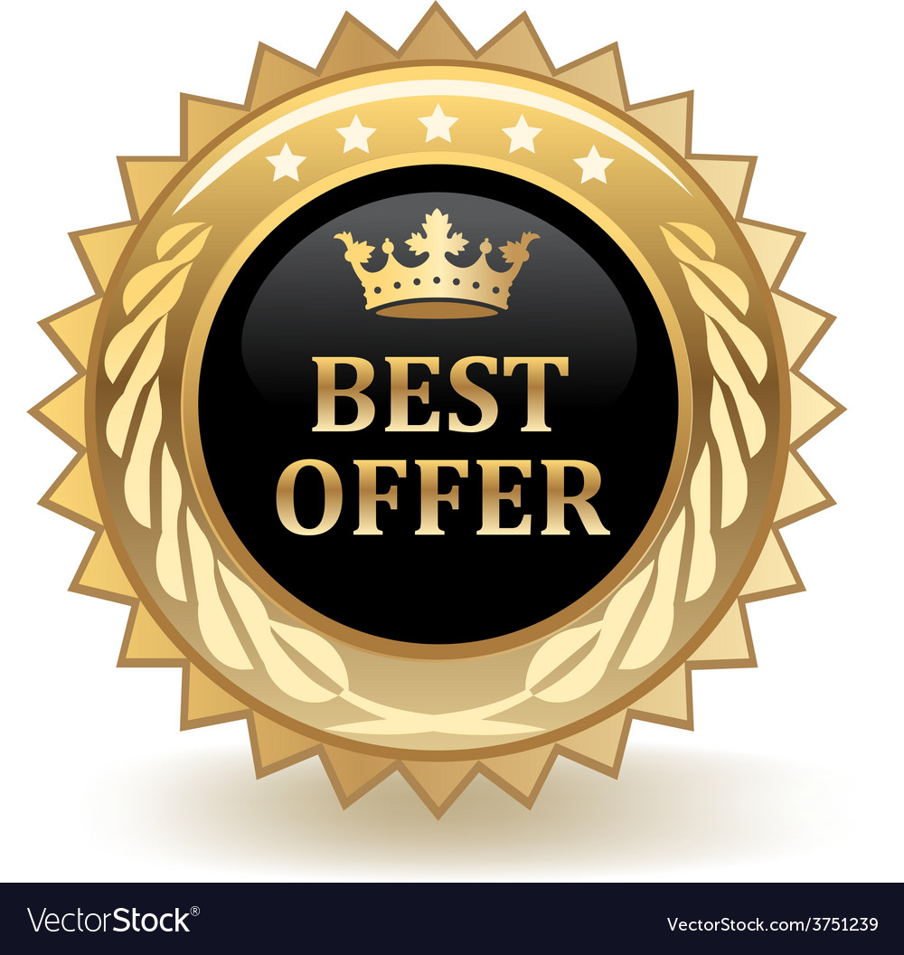 Best offer badge vector | Price: 1 Credit (USD $1)
