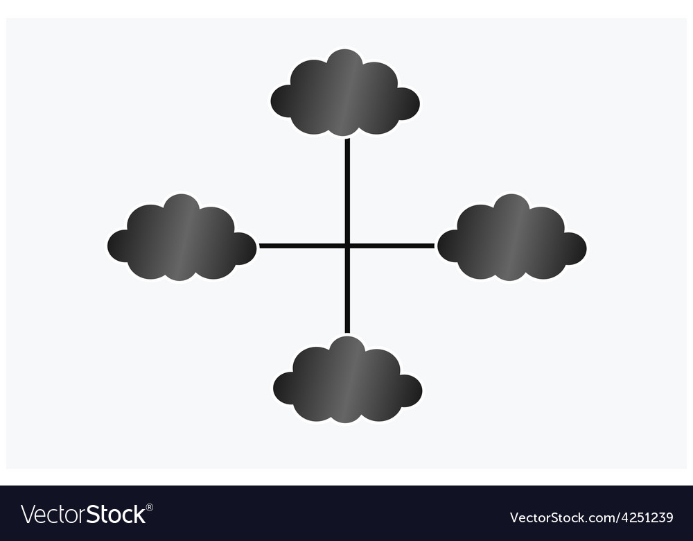 Black cloud infografic vector | Price: 1 Credit (USD $1)