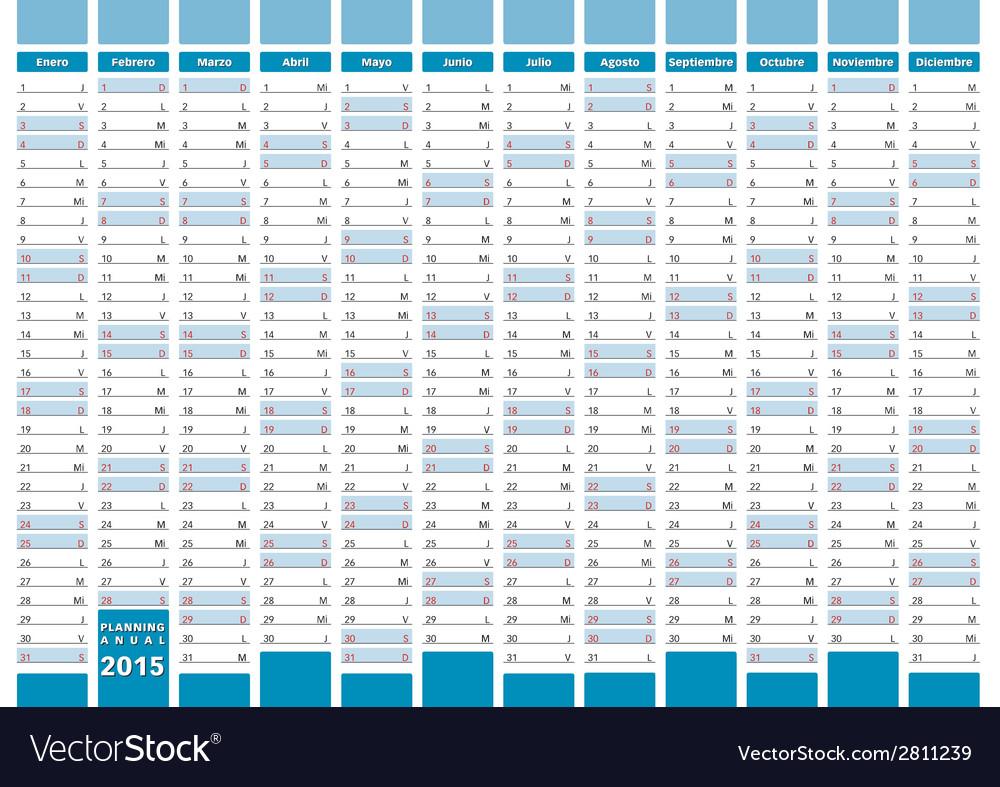 Elegant planner spanish vector | Price: 1 Credit (USD $1)