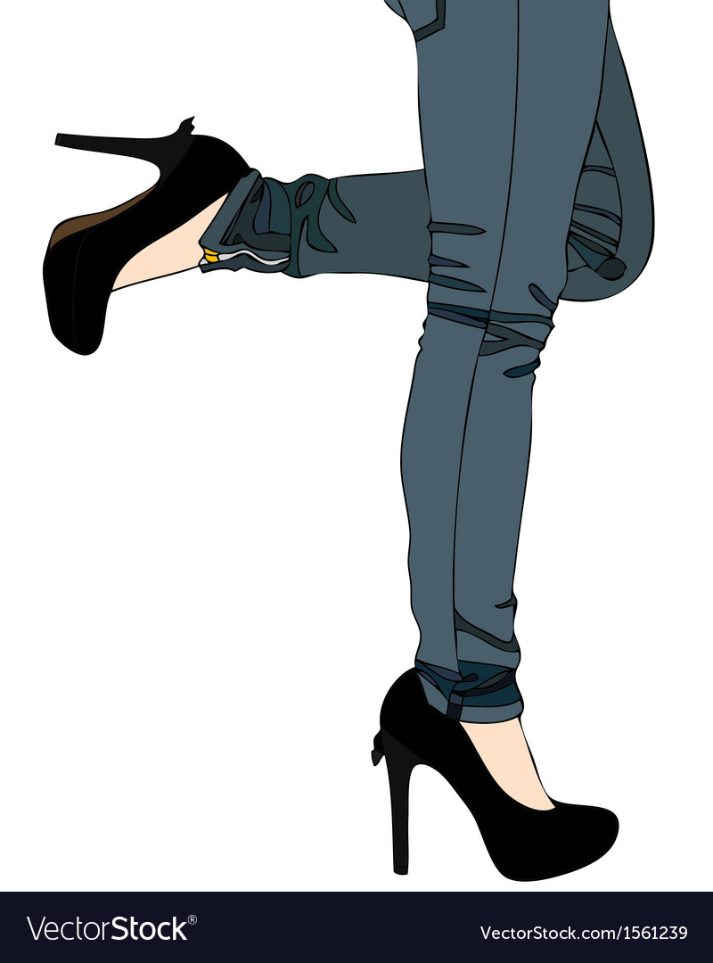 Jeans and sexy high heels vector | Price: 1 Credit (USD $1)