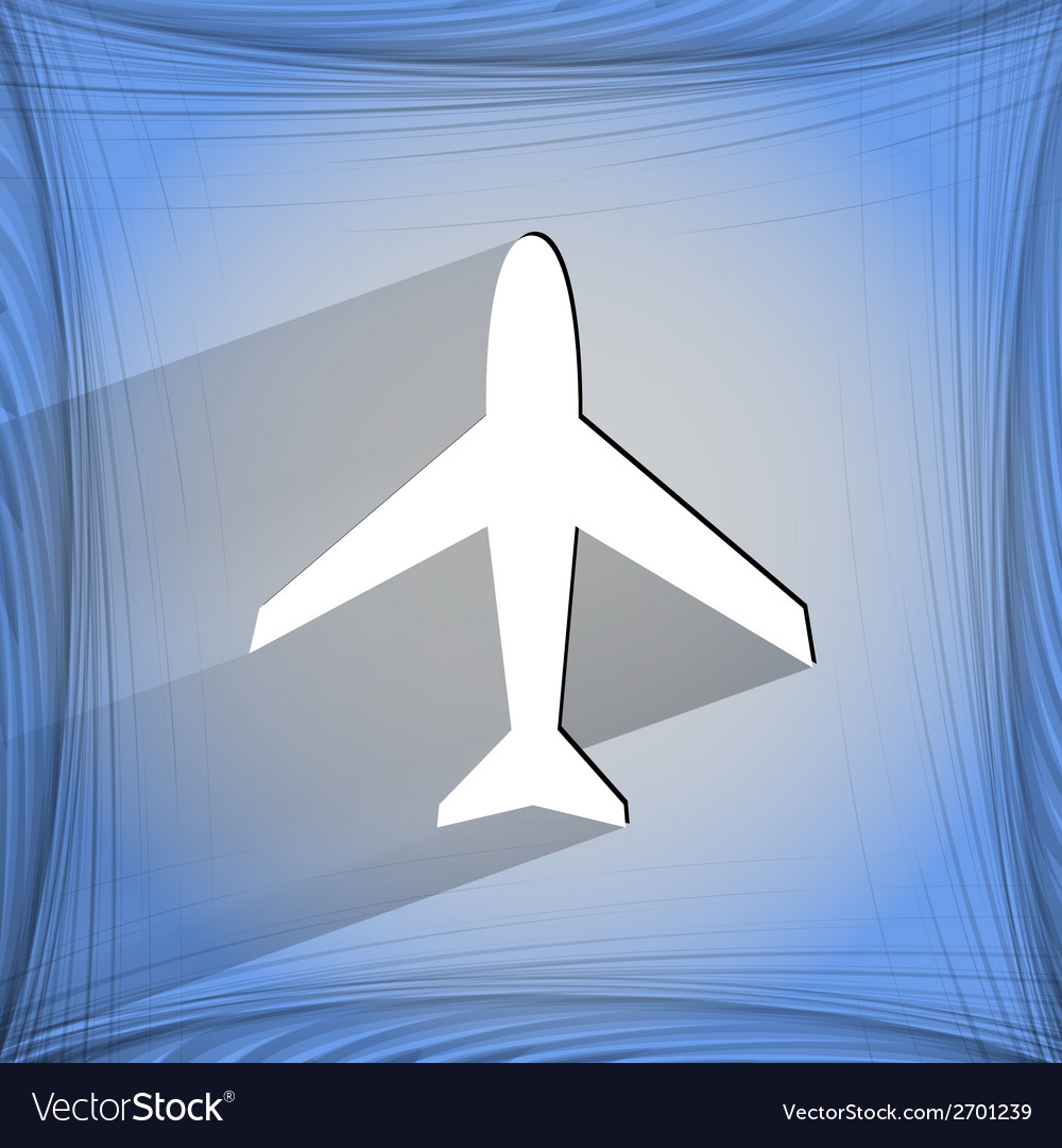 Plane  flat modern web design on a flat geometric vector | Price: 1 Credit (USD $1)