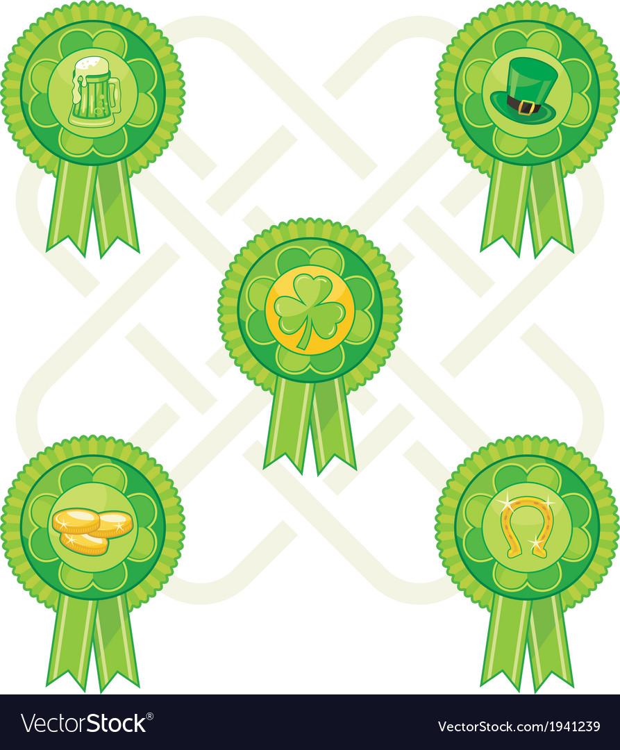 Saint patricks day badges vector | Price: 1 Credit (USD $1)